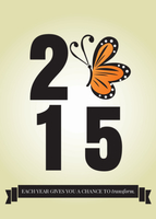 2015 New Year Butterfly